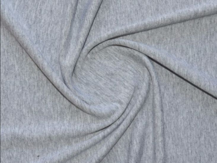 Трикотаж вискозный цвет серый меланж
