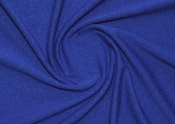 Трикотаж вискозный цвет синий электрик