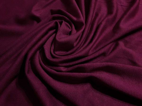 Трикотаж вискозный цвет бордо (вишневый оттенок)