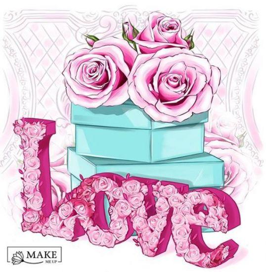 Сублимация розы love