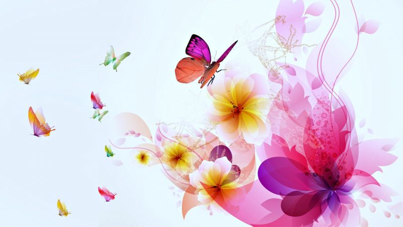 Сублимации цветы бабочки