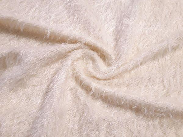 Трикотаж травка цвет кремовый