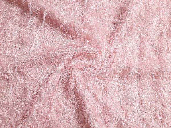 Трикотаж травка букле цвет нежно розовый