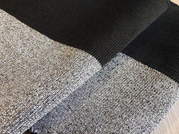 манжеты цвет чёрный и люрекс серебро