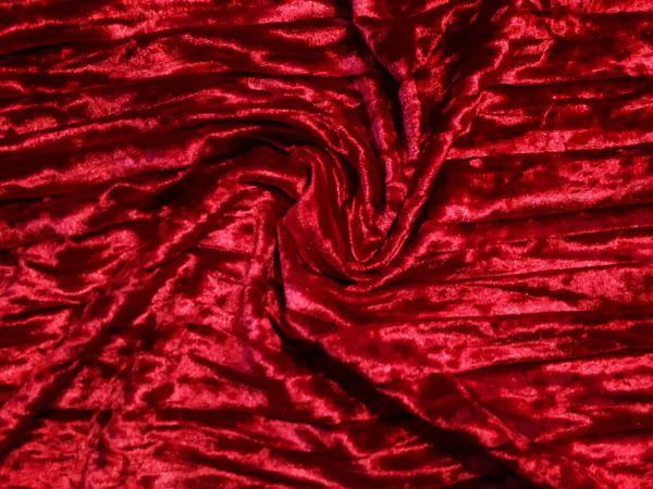 Велюр мраморный плиссе цвет красный