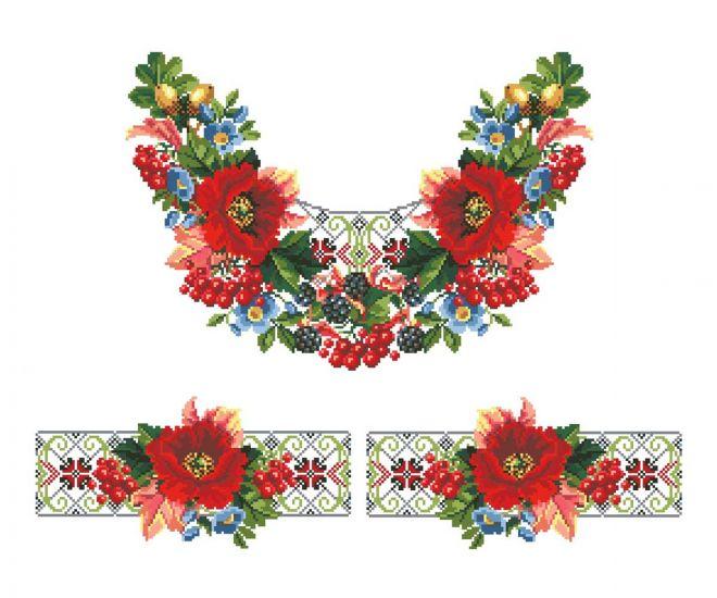 Сублимации Цветы вышивка