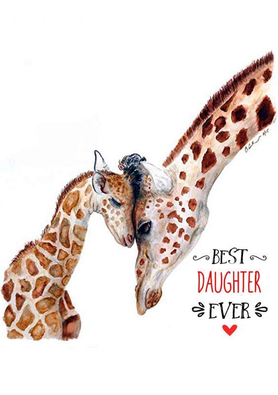 Сублимация жираф дочь
